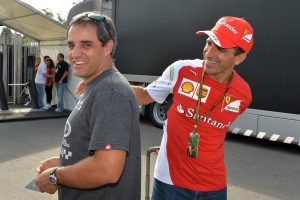 Juan Pablo Montoya (COL) and Marc Gene (ESP) Ferrari Test Driver. Formula One World Championship, Rd13, Italian Grand Prix, Monza, Italy, Preparations, Thursday, 4 September 2014 © Sutton Images.