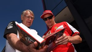 Tyler Alexander (USA) and Kimi Raikkonen (FIN) Ferrari at Formula One World Championship, Rd9, British Grand Prix, Qualifying, Silverstone, England, Saturday 4 July 2015. © Sutton Motorsport Images