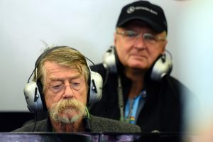 John Hurt (GBR), actor, left, was a guest of Mercedes AMG F1. Formula One World Championship, Rd12, Belgian Grand Prix, Qualifying, Spa-Francorchamps, Belgium, Saturday, 23 August 2014 © Sutton Images.