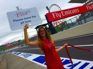 Grid girl at Formula One World Championship, Rd17, Japanese Grand Prix, Race, Suzuka, Japan, Sunday 9 October 2016.