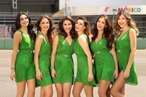 Grid girls at Formula One World Championship, Rd19, Mexican Grand Prix, Circuit Hermanos Rodriguez, Mexico City, Mexico, October 2016. © GQ México y Latam