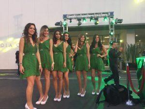 Grid girls at Formula One World Championship, Rd19, Mexican Grand Prix, Circuit Hermanos Rodriguez, Mexico City, Mexico, October 2016. © Mexico Grand Prix