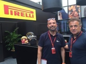 Ex F1 drivers, Ivan Capelli and Jean Alesi at Formula One World Championship, Rd11, Qualifying, Hungaroring, Hungary, Saturday 23 July 2016. © Pirelli