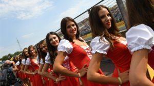Grid girls at Formula One World Championship, Rd11, Hungarian Grand Prix, Qualifying, Hungaroring, Hungary, Saturday 23 July 2016. © Sutton Images