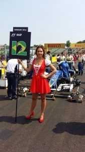Grid girls at Formula One World Championship, Rd11, Hungarian Grand Prix, Race, Hungaroring, Hungary, Sunday 24 July 2016.