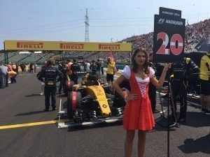 Grid girl at Formula One World Championship, Rd11, Hungarian Grand Prix, Race, Hungaroring, Hungary, Sunday 24 July 2016.