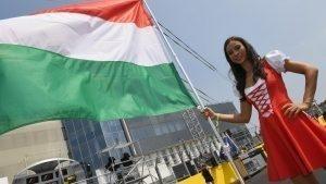 Grid girl at Formula One World Championship, Rd11, Hungarian Grand Prix, Race, Hungaroring, Hungary, Sunday 24 July 2016. © Sutton Images