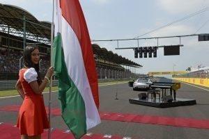 Grid girl at Formula One World Championship, Rd11, Hungarian Grand Prix, Race, Hungaroring, Hungary, Sunday 24 July 2016. © Pirreli