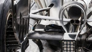 Mercedes-Benz F1 W07 Hybrid rear suspension and rear wing detail at Formula One World Championship, Rd12, German Grand Prix, Preparations, Hockenheim, Germany, Thursday 28 July 2016. © Sutton Images