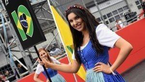 Grid girl at Formula One World Championship, Rd9, Austrian Grand Prix, Race, Spielberg, Austria, Sunday 3 July 2016. © Sutton Images