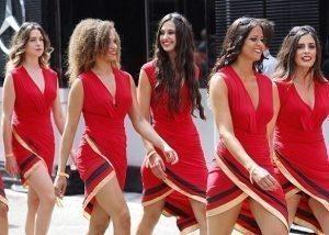 Grid girls at Formula One World Championship, Rd12, German Grand Prix, Race, Hockenheim, Germany, Sunday 31 July 2016.