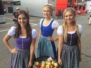 Girls at Formula One World Championship, Rd9, Austrian Grand Prix, Preparations, Spielberg, Austria, Thursday 30 June 2016. © @MercedesAMGF1