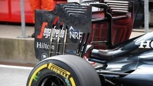 McLaren MP4-31 rear wing with aero paint at Formula One World Championship, Rd9, Austrian Grand Prix, Practice, Spielberg, Austria, Friday 1 July 2016. © Sutton Images