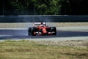 Wet pic-5 / FIRST TEST WITH SCUDERIA FERRARI: SEBASTIAN VETTEL TESTS AT FIORANO THE WIDER WET TYRES FOR NEXT SEASON © 2016 Pirelli & C. S.p.A