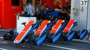 Manor Racing MRT05 nose and front wings at Formula One World Championship, Rd13, Belgian Grand Prix, Preparations, Spa Francorchamps, Belgium, Thursday 25 August 2016. © Sutton Images