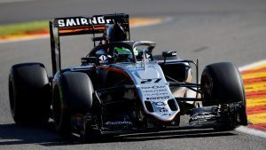 Nico Hulkenberg (GER) Force India VJM09 with halo at Formula One World Championship, Rd13, Belgian Grand Prix, Practice, Spa Francorchamps, Belgium, Friday 26 August 2016. © Sutton Images