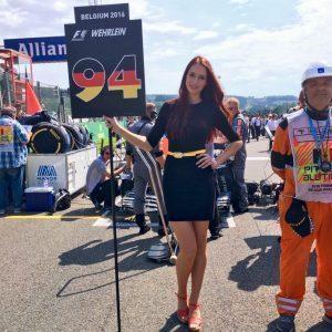 Grid girl at Formula One World Championship, Rd13, Belgian Grand Prix, Race, Spa Francorchamps, Belgium, Sunday 28 August 2016. © Manor Racing MRT