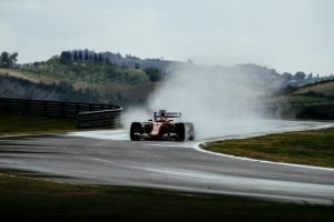 Wet pic-1 / FIRST TEST WITH SCUDERIA FERRARI: SEBASTIAN VETTEL TESTS AT FIORANO THE WIDER WET TYRES FOR NEXT SEASON © 2016 Pirelli & C. S.p.A