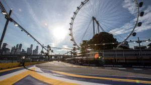 Terack view and Singapore flyer at Formula One World Championship, Rd15, Singapore Grand Prix, Preparations, Marina Bay Street Circuit, Singapore, Thursday 15 September 2016. © Sutton Images