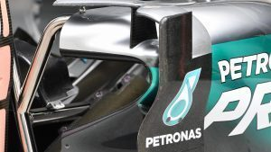 Mercedes-Benz F1 W07 Hybrid bodywork detail at Formula One World Championship, Rd16, Malaysian Grand Prix, Preparations, Sepang, Malaysia, Thursday 29 September 2016. © Sutton Images