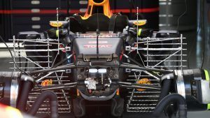 Red Bull Racing RB12 front suspension and chassis detail at Formula One World Championship, Rd16, Malaysian Grand Prix, Preparations, Sepang, Malaysia, Thursday 29 September 2016. © Sutton Images