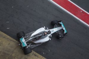 pic-4 / SIXTH TEST WITH MERCEDES AMG PETRONAS F1 TEAM: Pascal Wehrlein tests at Circuit de Barcelona-Catalunya, Spain, THE WIDER TYRES FOR NEXT SEASON