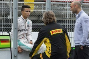 pic-6 / SIXTH TEST WITH MERCEDES AMG PETRONAS F1 TEAM: Pascal Wehrlein tests at Circuit de Barcelona-Catalunya, Spain, THE WIDER TYRES FOR NEXT SEASON