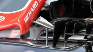 Haas VF-16 front wing detail at Formula One World Championship, Rd14, Italian Grand Prix, Practice, Monza, Italy, Friday 2 September 2016. © Sutton Images