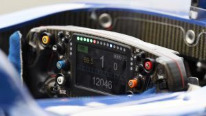 Sauber C35 steering wheel detail at Formula One World Championship, Rd14, Italian Grand Prix, Qualifying, Monza, Italy, Saturday 3 September 2016. © Sutton Images