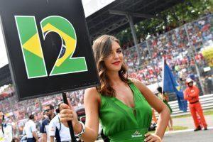Grid girl at Formula One World Championship, Rd14, Italian Grand Prix, Race, Monza, Italy, Sunday 4 September 2016. © Scuderia Toro Rosso