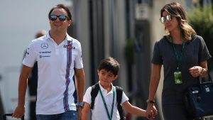 Felipe Massa (BRA) Williams with his wife Rafaela Bassi (BRA) and son Felipinho Massa (BRA) at Formula One World Championship, Rd14, Italian Grand Prix, Preparations, Monza, Italy, Thursday 1 September 2016. © Sutton Images