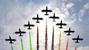 Fly past at Formula One World Championship, Rd14, Italian Grand Prix, Race, Monza, Italy, Sunday 4 September 2016. © Sutton Images