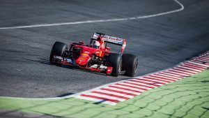 pic-2 / THIRD TEST WITH SCUDERIA FERRARI: Sebastian Vettel tests at Circuit de Barcelona-Catalunya, Spain, THE WIDER TYRES FOR NEXT SEASON