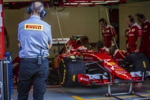 pic-1 / THIRD TEST WITH SCUDERIA FERRARI: Kimi Räikkönen tests at Circuit de Barcelona-Catalunya, Spain, THE WIDER TYRES FOR NEXT SEASON