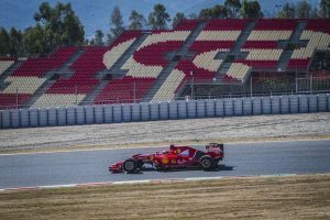 pic-4 / THIRD TEST WITH SCUDERIA FERRARI: Kimi Räikkönen tests at Circuit de Barcelona-Catalunya, Spain, THE WIDER TYRES FOR NEXT SEASON