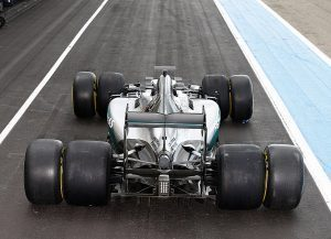 pic-4 / FOURTH TEST WITH MERCEDES AMG PETRONAS F1 TEAM: Pascal Wehrlein tests at Circuit Paul Ricard, France, THE WIDER TYRES FOR NEXT SEASON