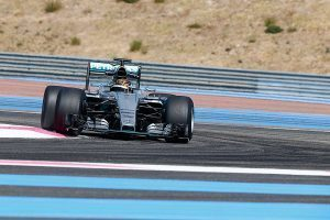 pic-8 / FOURTH TEST WITH MERCEDES AMG PETRONAS F1 TEAM: Pascal Wehrlein tests at Circuit Paul Ricard, France, THE WIDER TYRES FOR NEXT SEASON