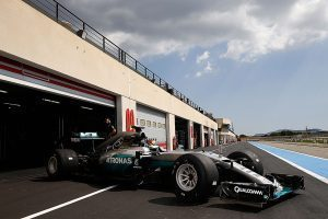 pic-9 / FOURTH TEST WITH MERCEDES AMG PETRONAS F1 TEAM: Pascal Wehrlein tests at Circuit Paul Ricard, France, THE WIDER TYRES FOR NEXT SEASON