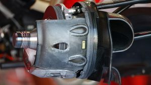 Ferrari SF16-H front wheel hub detail at Formula One World Championship, Rd14, Italian Grand Prix, Preparations, Monza, Italy, Thursday 1 September 2016. © Sutton Images