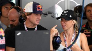 Robbie Naish (USA) Surfing legend in the Red Bull Racing garage at Formula One World Championship, Rd18, United States Grand Prix, Practice, Circuit of the Americas, Austin, Texas, USA, Friday 21 October 2016. © Sutton Images
