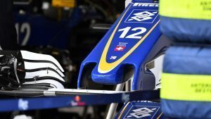 Sauber C35 nose detail at Formula One World Championship, Rd19, Mexican Grand Prix, Preparations, Circuit Hermanos Rodriguez, Mexico City, Mexico, Thursday 27 October 2016. © Sutton Images