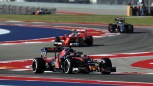 Daniil Kvyat (RUS) Scuderia Toro Rosso STR11 with the Halo at Formula One World Championship, Rd18, United States Grand Prix, Practice, Circuit of the Americas, Austin, Texas, USA, Friday 21 October 2016. © Sutton Images