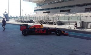 pic-15 / SEVENTH TEST WITH RED BULL RACING: Pierre Gasly tests at Yas Marina Circuit, Yas Island, Abu Dhabi, United Arab Emirates, THE WIDER TYRES FOR 2017 SEASON