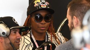 Venus Williams (USA) Tennis Player at Formula One World Championship, Rd18, United States Grand Prix, Qualifying, Circuit of the Americas, Austin, Texas, USA, Saturday 22 October 2016. © Sutton Images