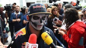 Max Verstappen (NED) Red Bull Racing with Day of the Dead face paint at Formula One World Championship, Rd19, Mexican Grand Prix, Preparations, Circuit Hermanos Rodriguez, Mexico City, Mexico, Thursday 27 October 2016. © Sutton Images