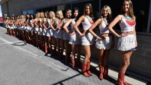 Grid girls at Formula One World Championship, Rd18, United States Grand Prix, Qualifying, Circuit of the Americas, Austin, Texas, USA, Saturday 22 October 2016. © Sutton Images
