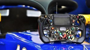 Sauber C35 steering wheel at Formula One World Championship, Rd19, Mexican Grand Prix, Practice, Circuit Hermanos Rodriguez, Mexico City, Mexico, Friday 28 October 2016. © Sutton Images