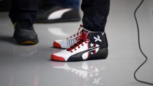 The boots of Daniel Ricciardo (AUS) Red Bull Racing at Formula One World Championship, Rd18, United States Grand Prix, Practice, Circuit of the Americas, Austin, Texas, USA, Friday 21 October 2016. © Sutton Images