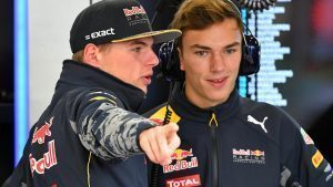Max Verstappen (NED) Red Bull Racing and Pierre Gasly (FRA) Red Bull Racing at Formula One World Championship, Rd19, Mexican Grand Prix, Practice, Circuit Hermanos Rodriguez, Mexico City, Mexico, Friday 28 October 2016. © Sutton Images