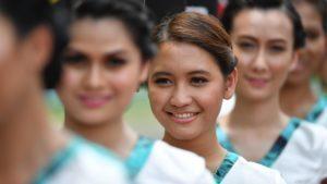 Grid girls at Formula One World Championship, Rd16, Malaysian Grand Prix, Race, Sepang, Malaysia, Sunday 2 October 2016. © Sutton Images